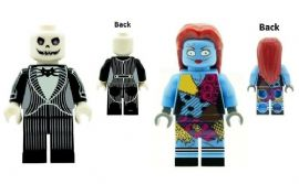 Jack Skellington & Sally (The Nightmare Before Christmas) - Custom Designed Minifigures